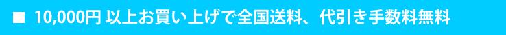 10000円以上代引き手数料無料
